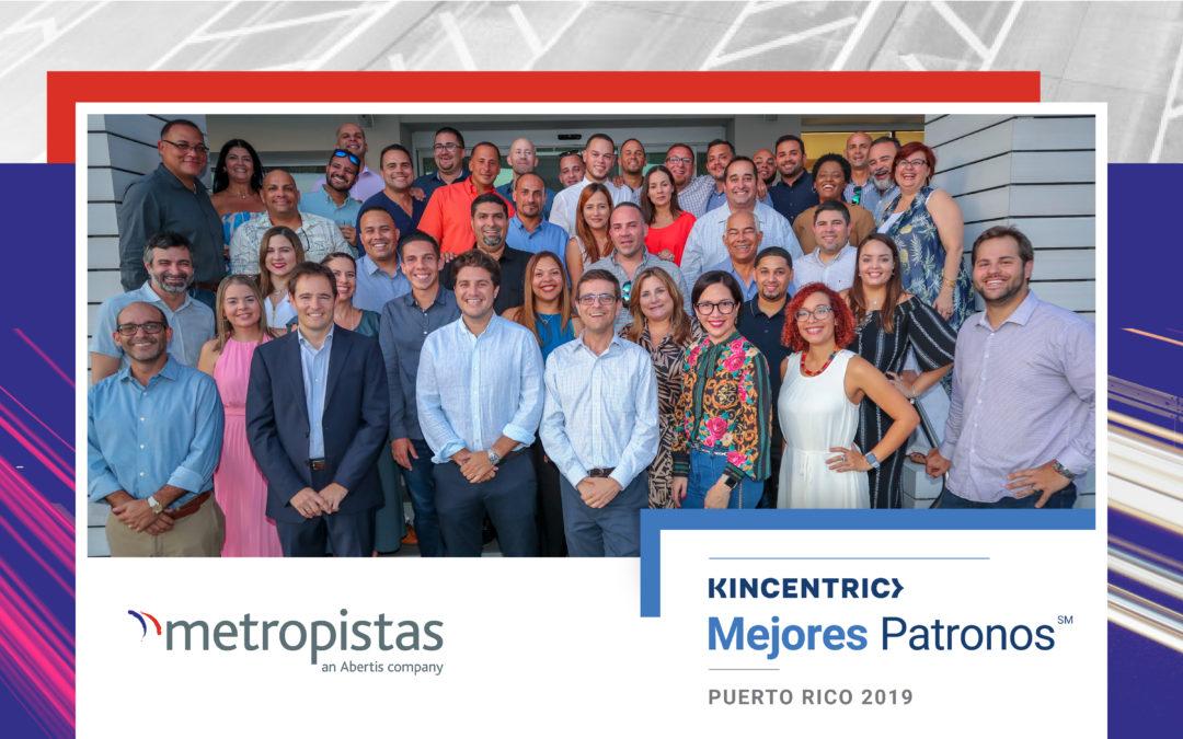Metropistas seleccionado como Mejores Patronos de Puerto Rico 2019
